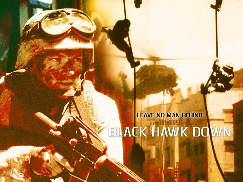 Movie poster for Black Hawk Down