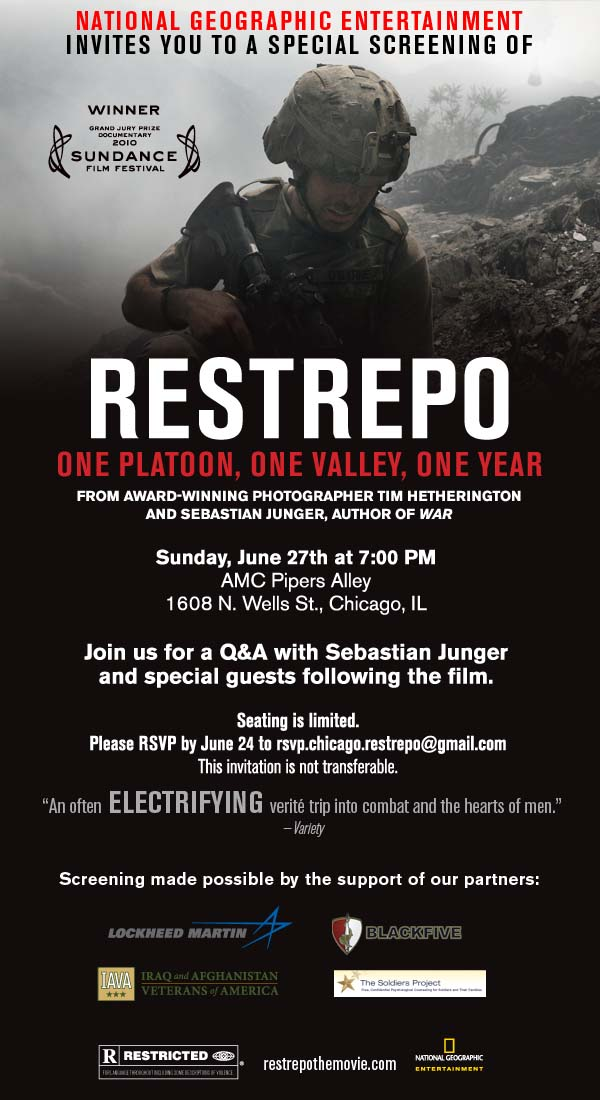 Movie poster for Restrepo