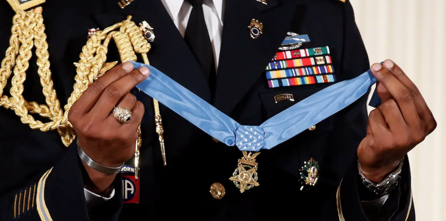 Close up of the Medal of Honr