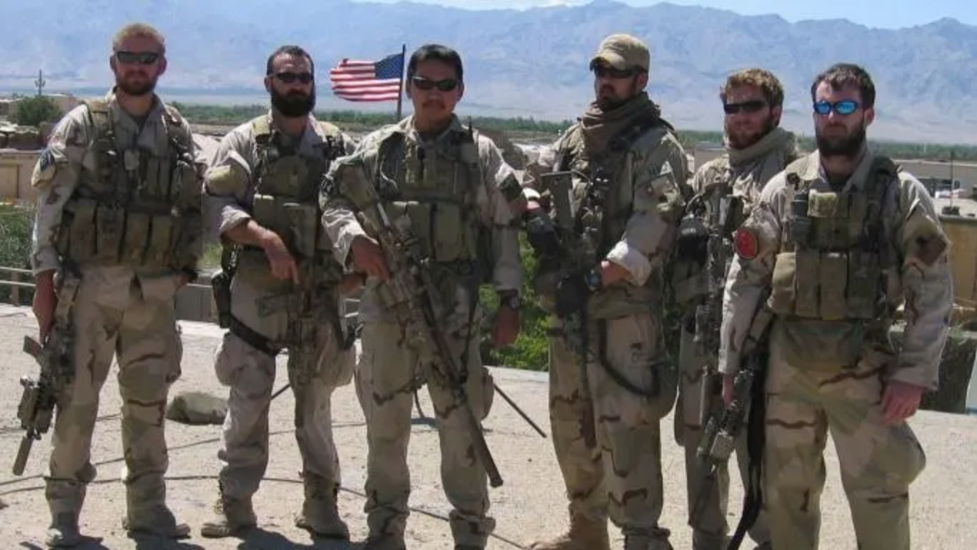 Marcus Luttrell and his fellow SEALS before Operation Red Wings
