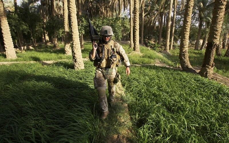 soldier patrols in Iraq