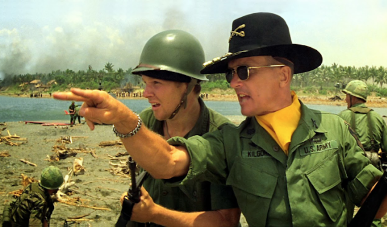 Robert Duvall in the surfing scene from Apocalypse Now
