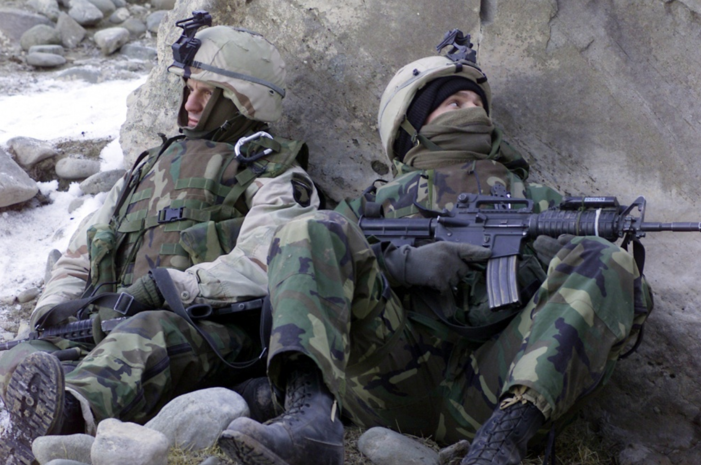 75th Regiment Army Rangers defend against the Taliban during Operation Anaconda in Afghanistan