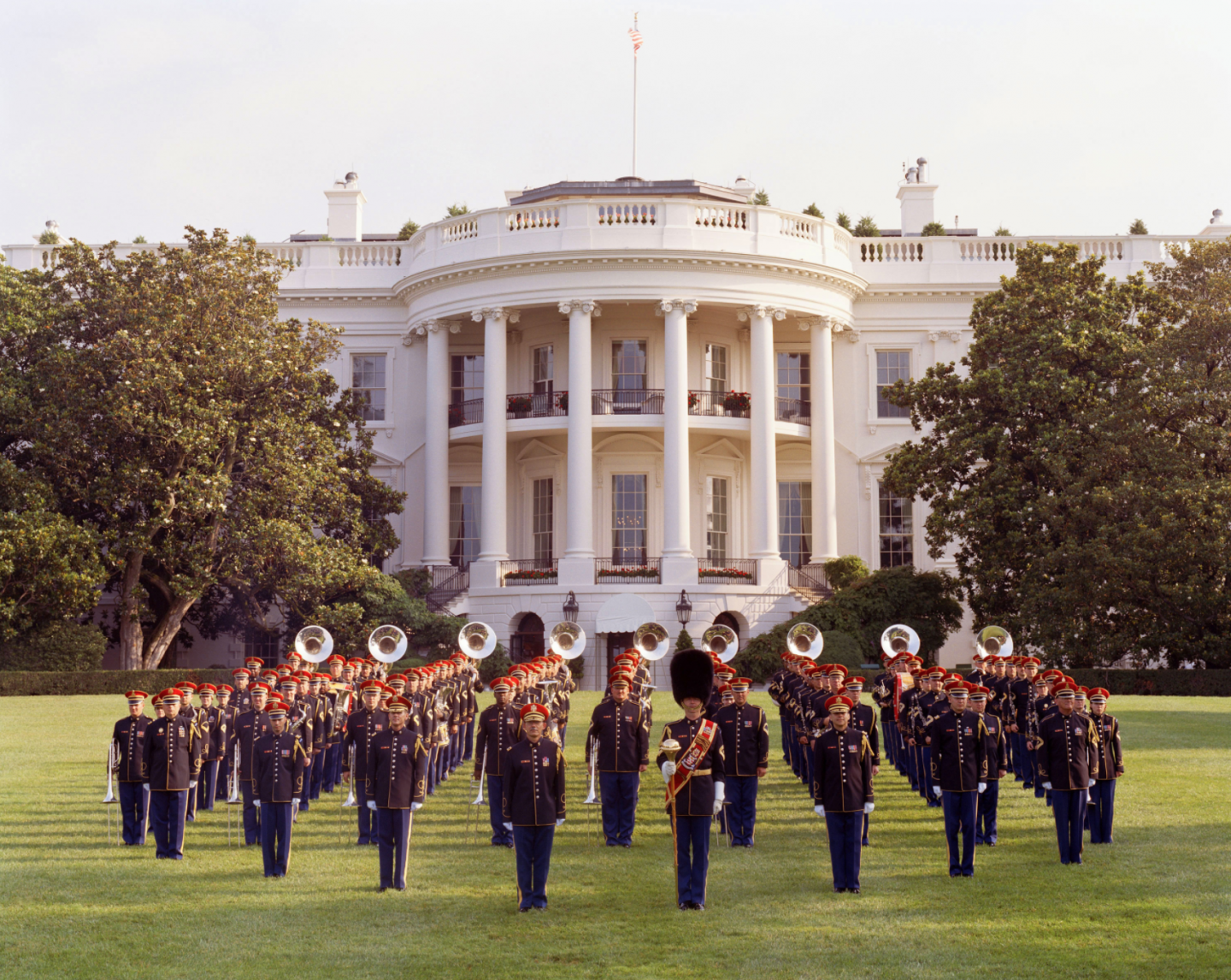 U.S. Army Band in front of the White House