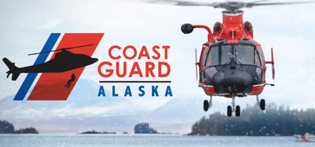 Helicopters on promotional poster for Coast Guard: Alaska
