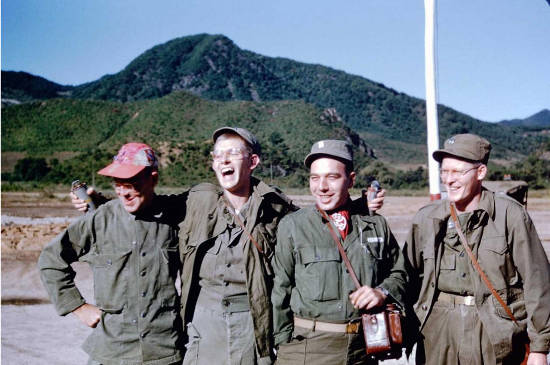Four MASH unit members pose during the Korean War