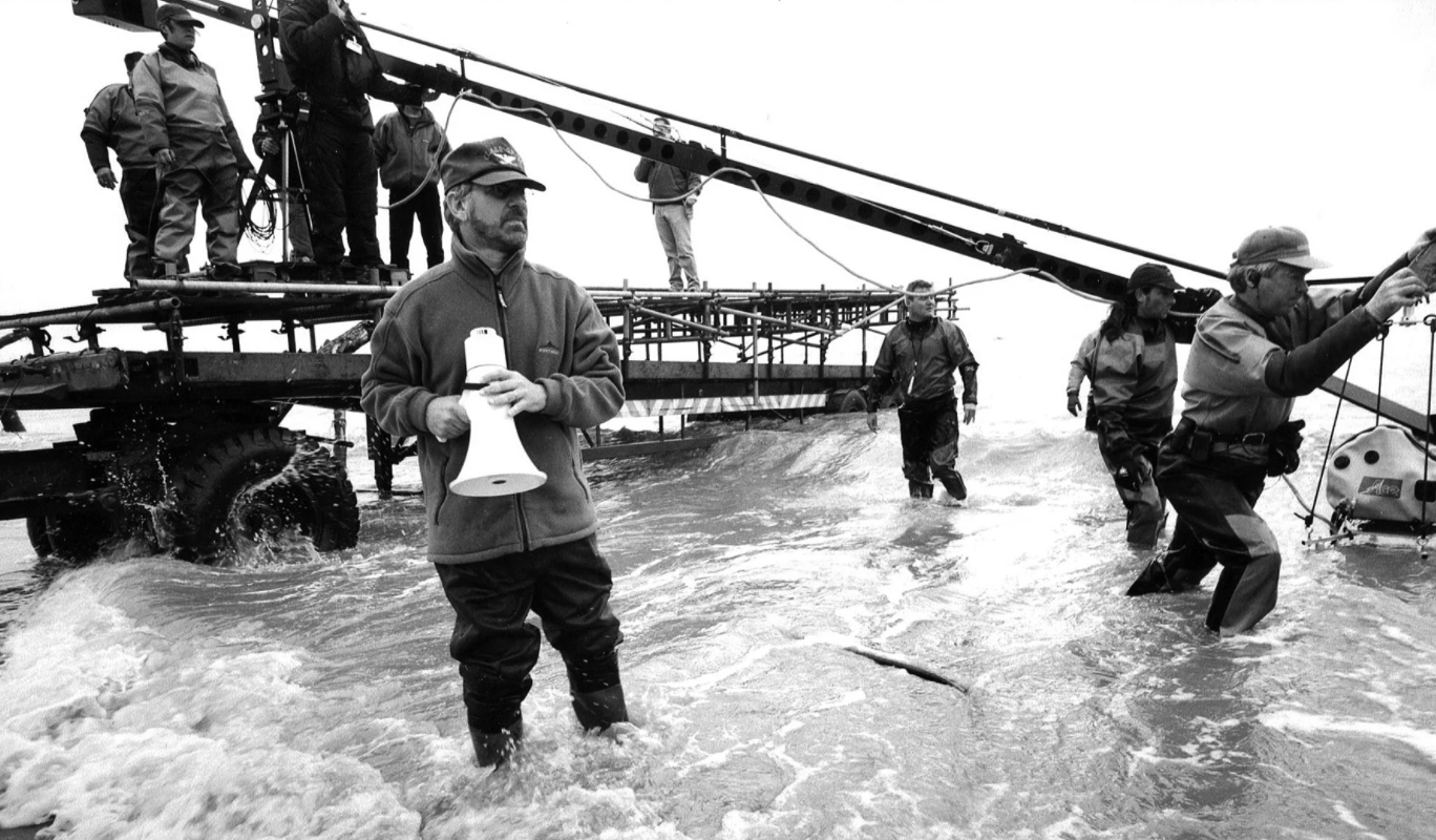 Steven Spielberg directs the landing on Omaha Beach in Saving Private Ryan
